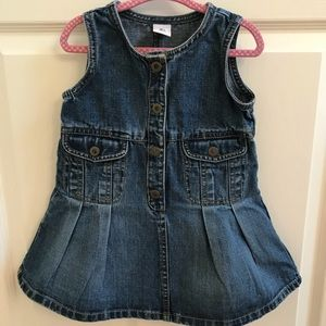 Jean Jumper with Snap Front and Pockets 18-24M